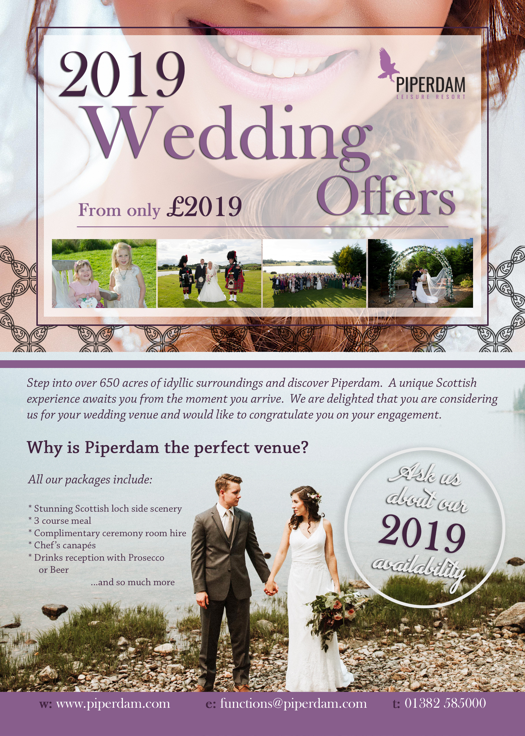 Scottish Wedding Venue In Dundee Civil Weddings In Scotland Piperdam